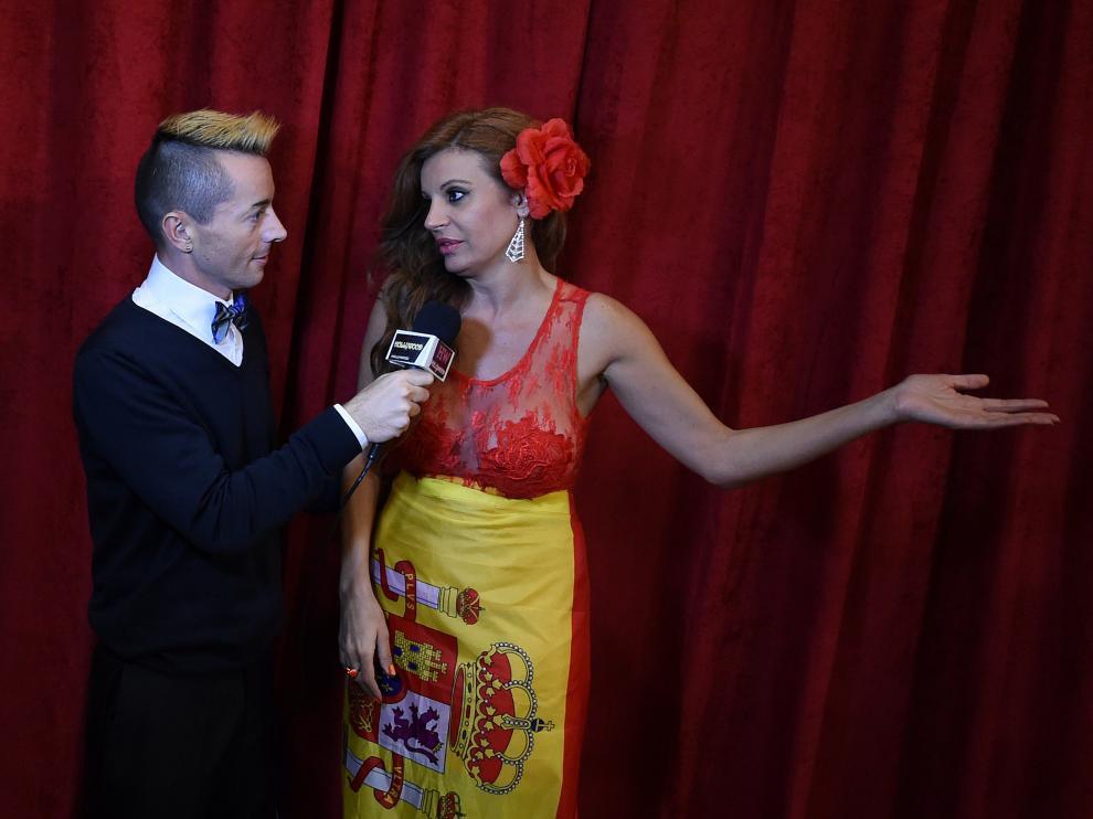Sonia Monroy en los Óscar 2015