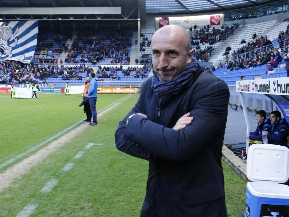 Popovic, en el partido contra el Alavés