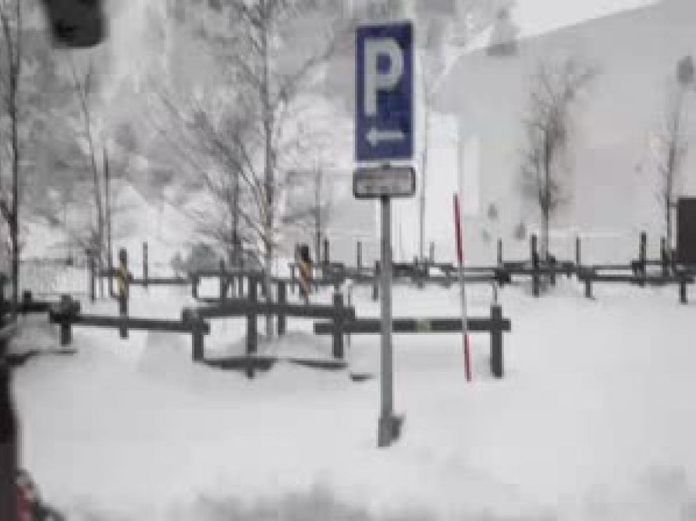 Imagen de archivo de nevada en el Pirineo.