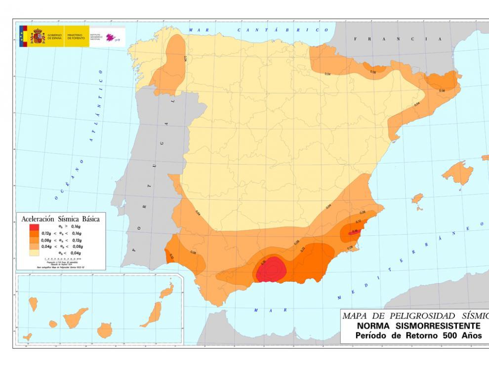 Mapa de peligrosidad sísmica