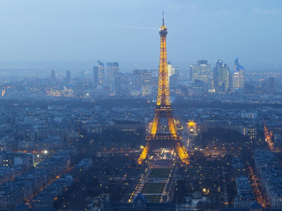 Vista aérea de la ciudad de París
