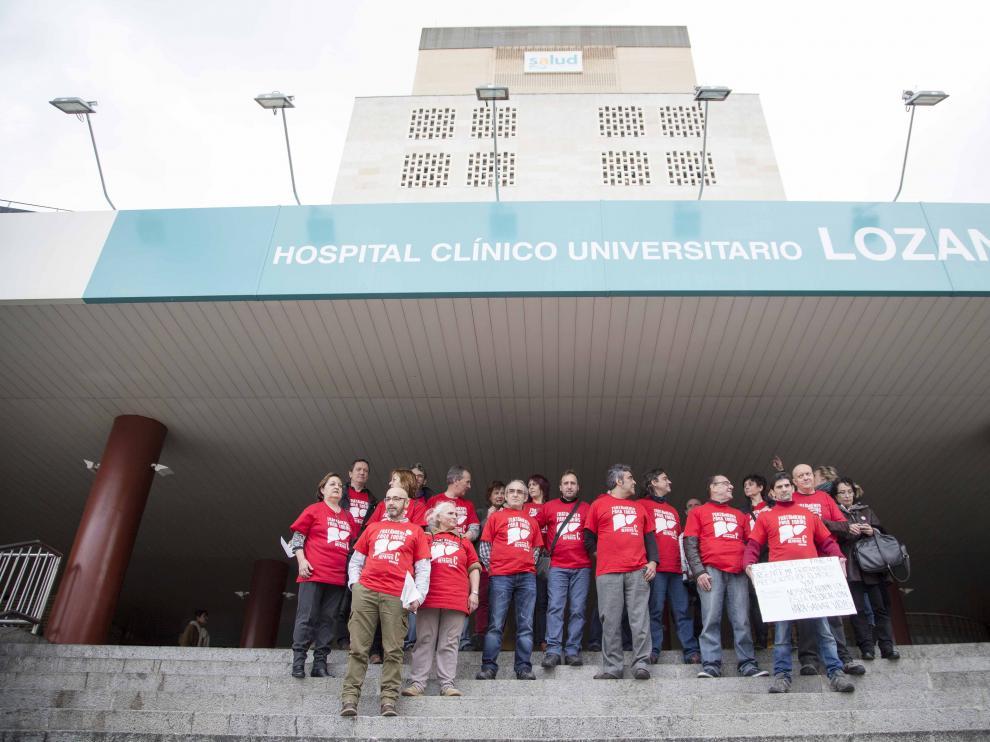 Protesta de los enfermos de hepatitis C