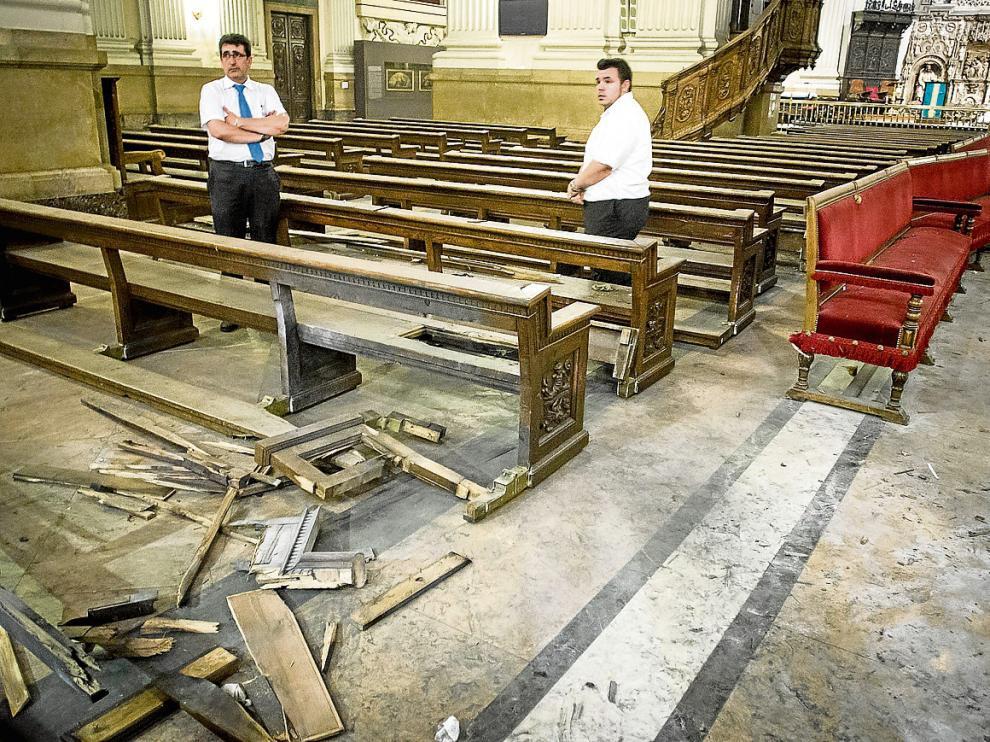 El atentado de la Basílica del Pilar afectó a cuatro bancos con un artefacto casero de dos kilos.