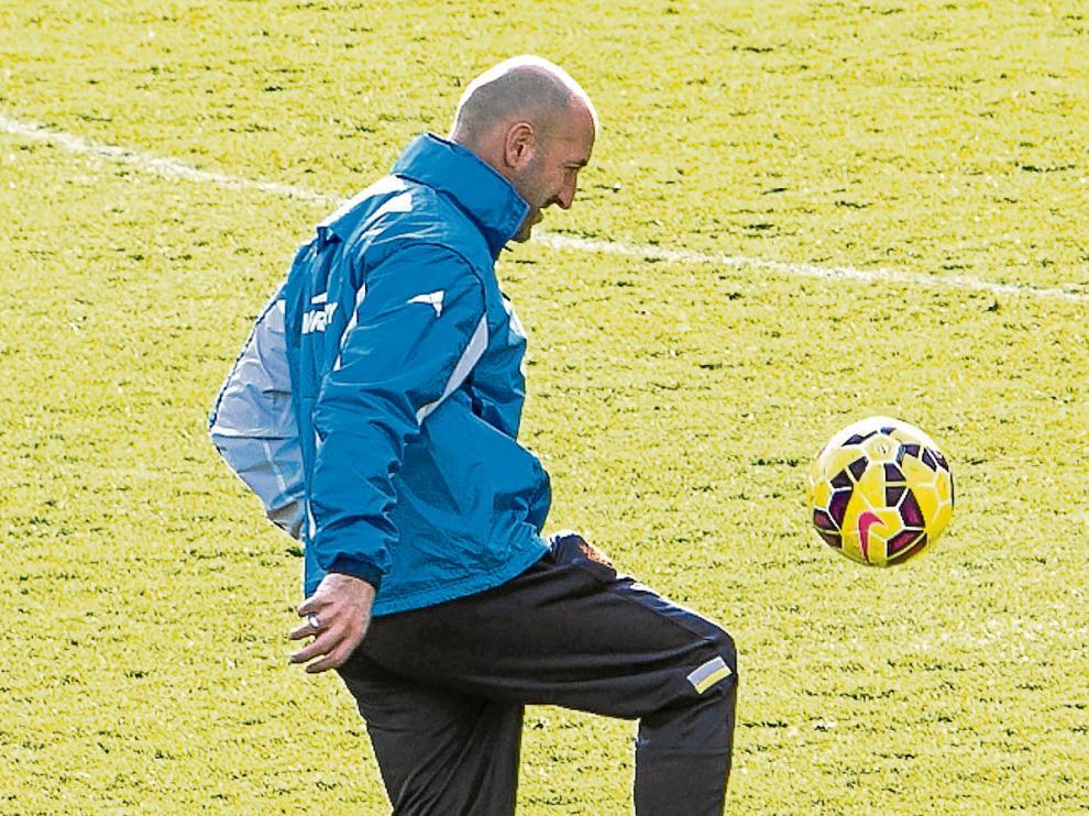 Ranko Popovic, en un entrenamiento del Real Zaragoza.