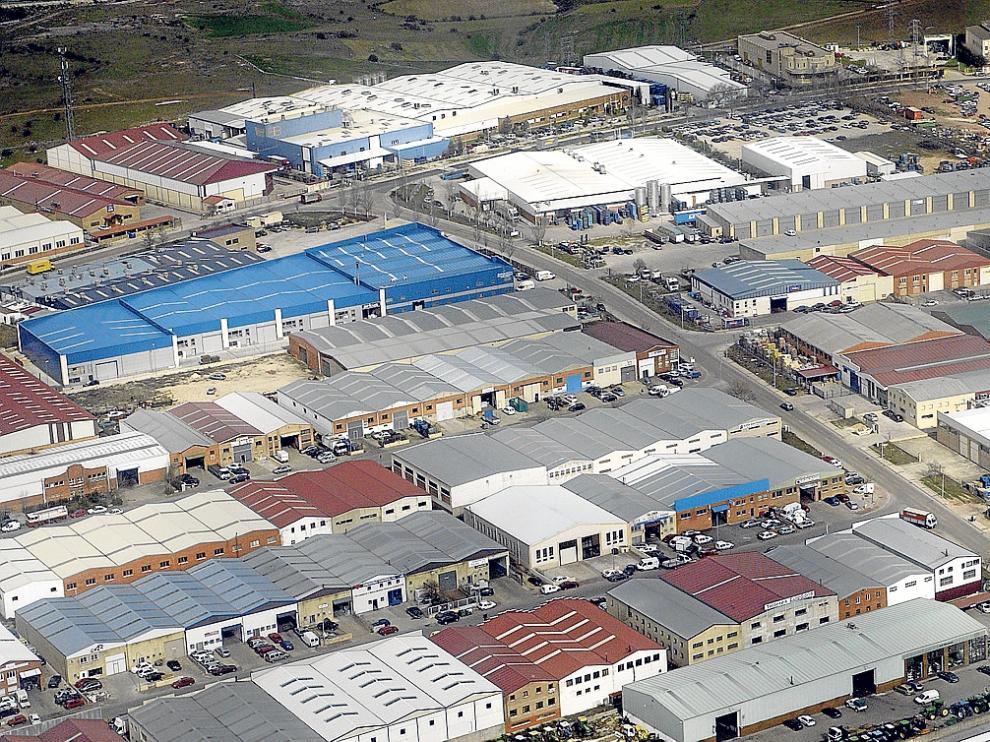 Imagen aérea del polígono de Las Casas, situado en la capital.