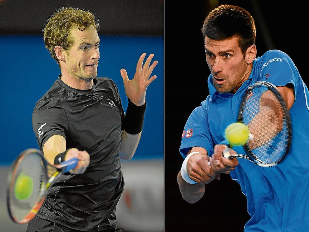 Andy Murray –izquierda– y Novak Djokovic se encontrarán en la final de Australia este domingo.