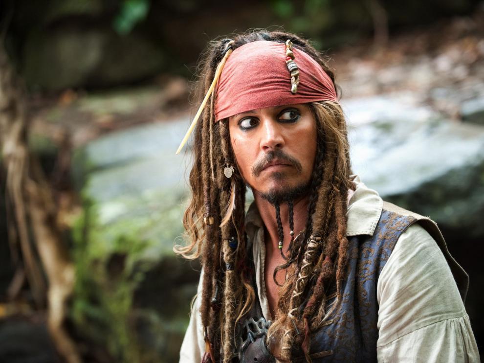 ?Johnny Depp caracterizado como Jack Sparrow