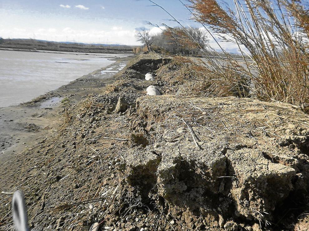 Algunos de los daños en infraestructuras que provocó la última riada en los campos de Novillas.