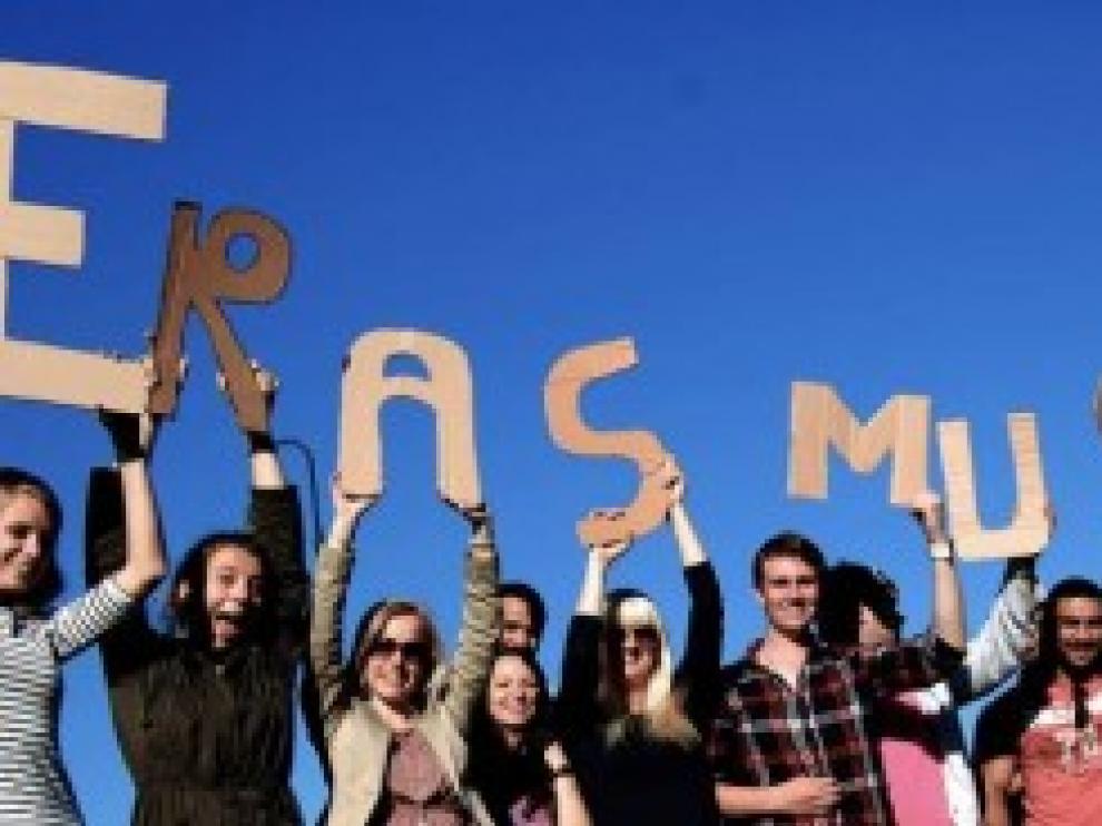 Un grupo de alumnos de Erasmus. En 2017, 797.000 estudiantes participaron en el programa.
