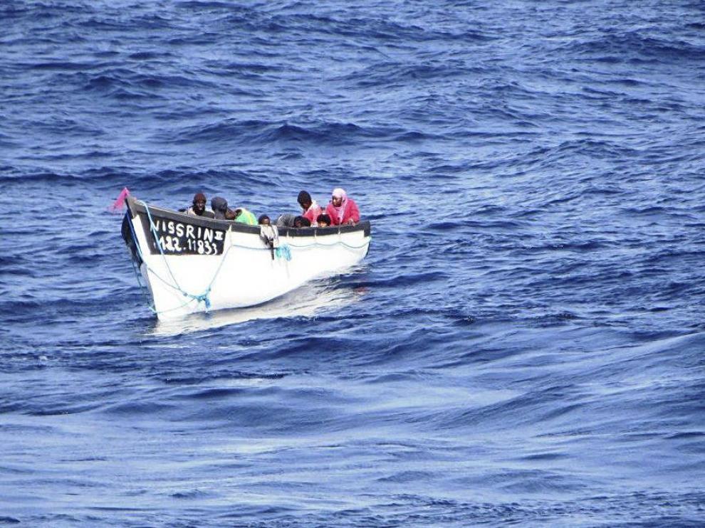 Una de las embarcaciones interceptadas