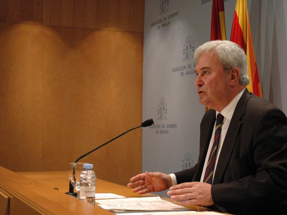 El delegado del Gobierno en Aragón, Gustavo Alcalde en una imagen de archivo.