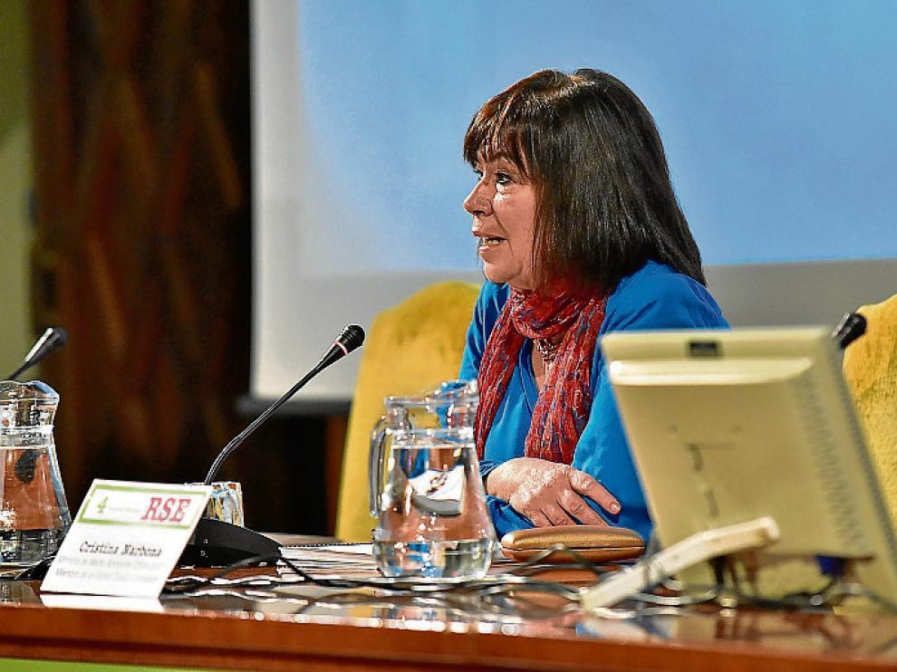 Cristina Narbona, en el congreso, ayer en Zaragoza.