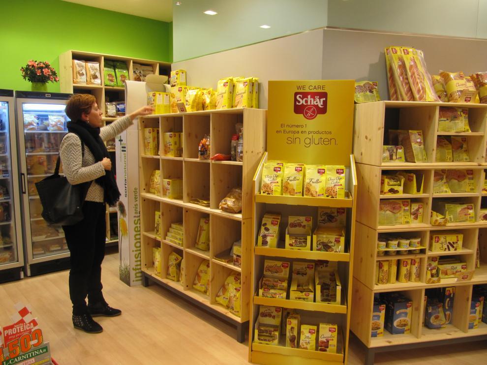 Tienda de alimentos celiacos en Zaragoza.