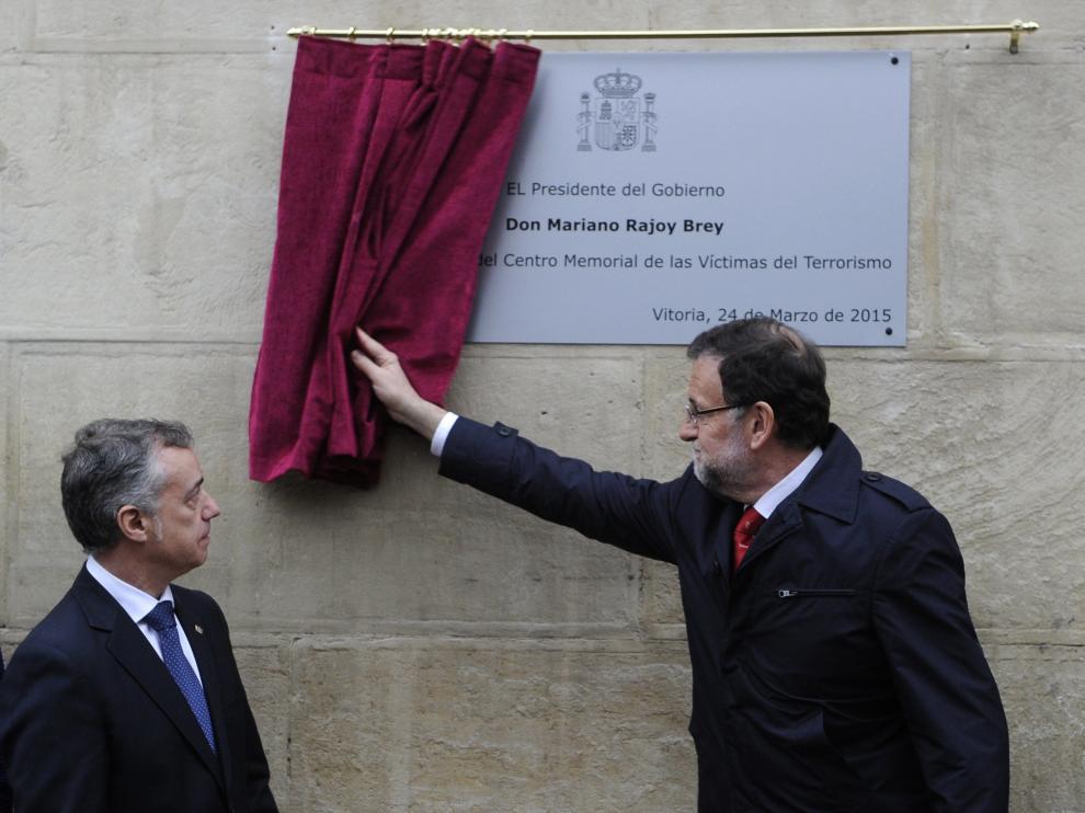 Mariano Rajoy en un acto en memoria de las víctimas del terrorismo en una imagen de archivo