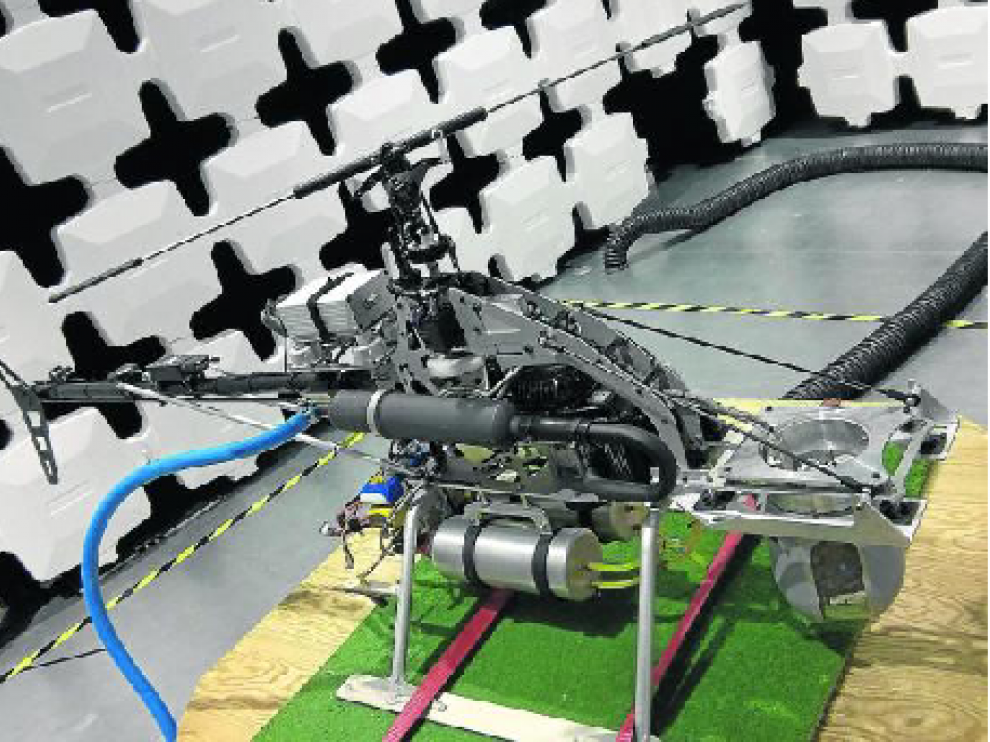 Un dron con cámara semianecoica del Instituto Tecnológico de Aragón.