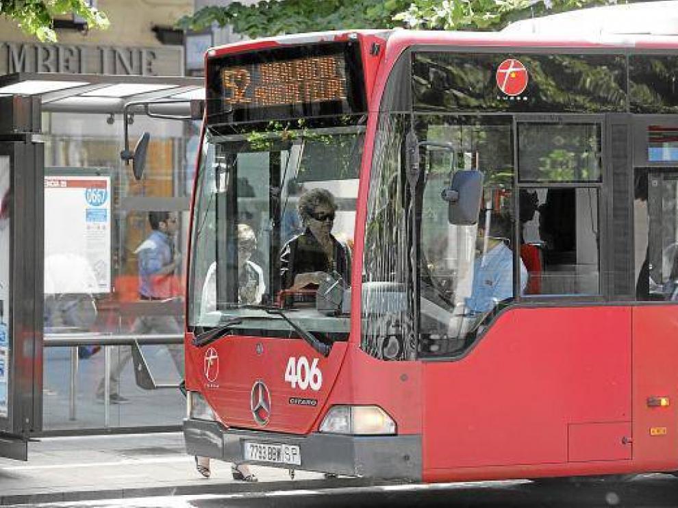 Un autobús urbano de Zaragoza