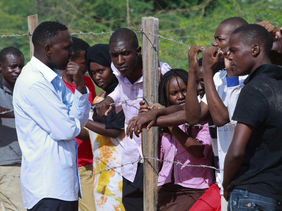 Estudiantes de la Universidad de Garissa, este viernes