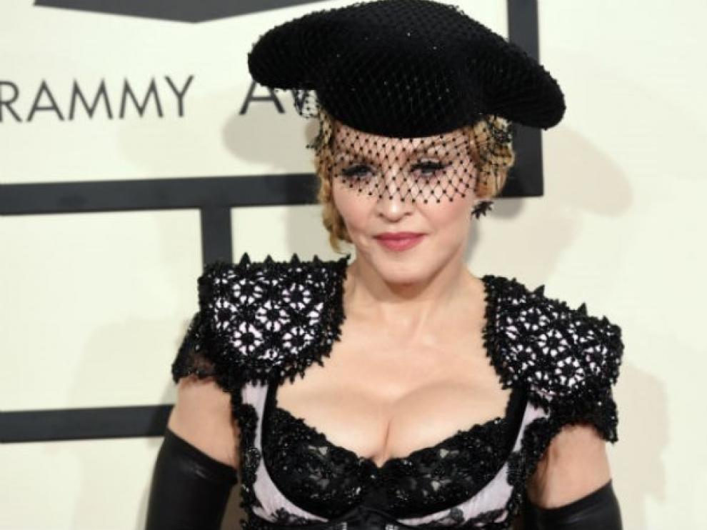 Madonna en los Grammy 2015 (Archivo)