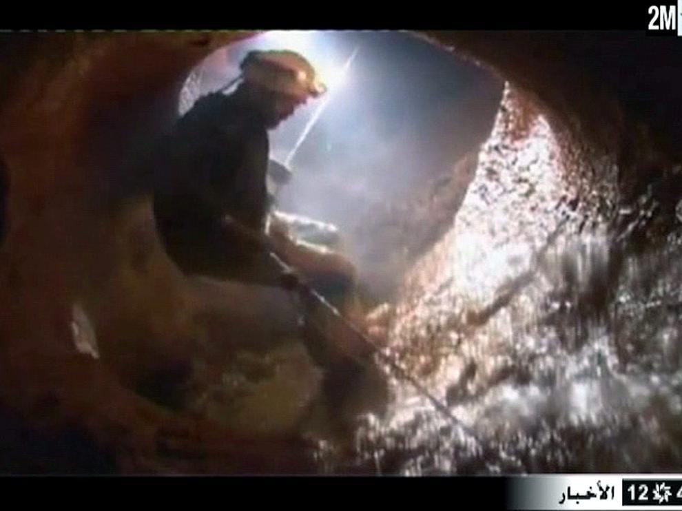 Captura de las imágenes del rescate de una televisión marroquí