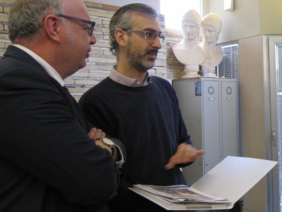 El director de SVA ha firmado con el director de la Escuela el convenio de colaboración
