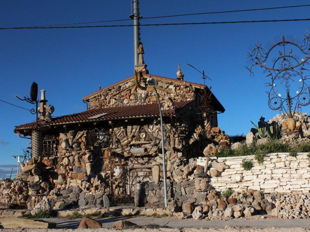 'La casa del sol naciente', obra de Armando Baigorri, en Monteagudo (Navarra)