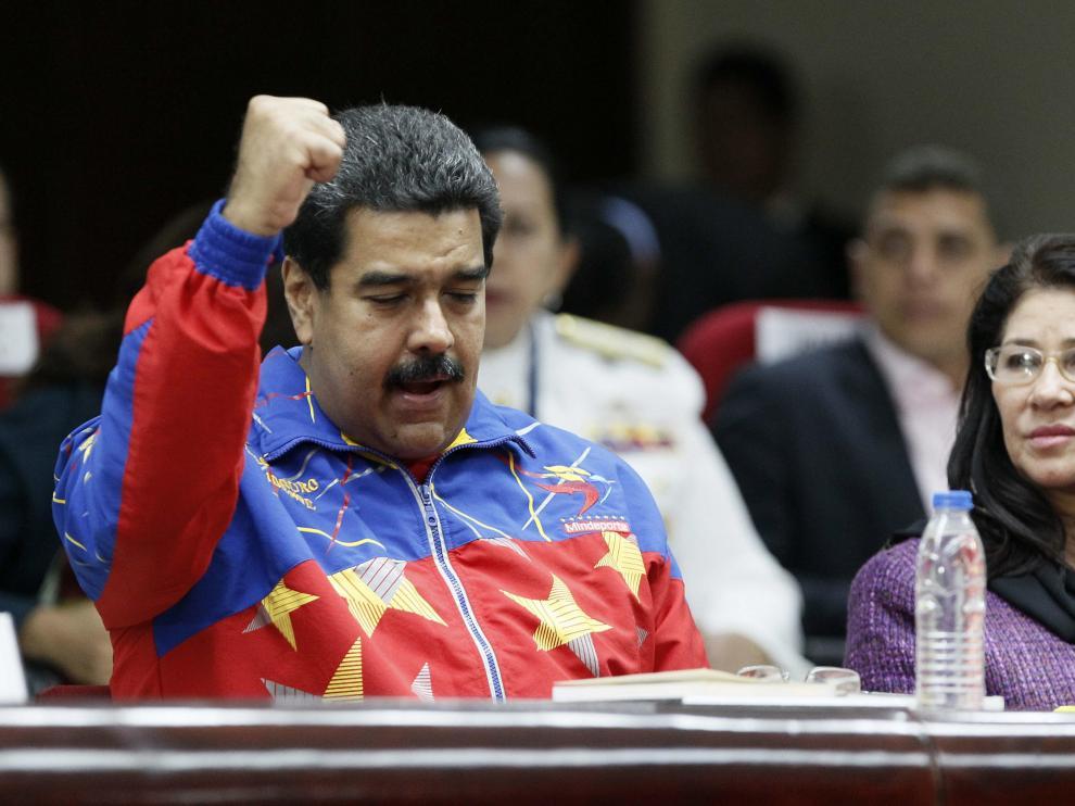 Nicolás Maduro, durante la Cumbre de las Américas