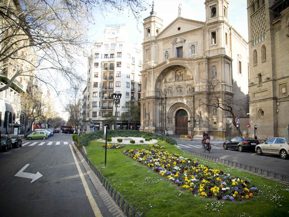 Un día soleado en Zaragoza.