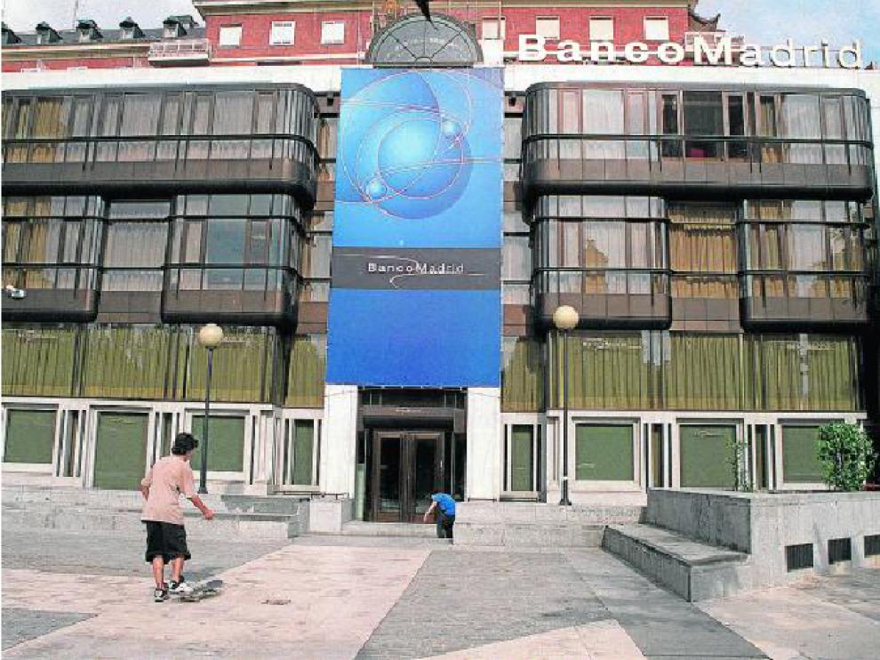 Sede del Banco de Madrid en la plaza de Colón, en la capital española.