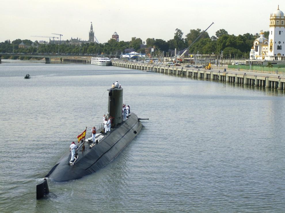 Las baterías sustraídas iban destinadas a las nuevas unidades del submarino S-80, que sustituirán al 'Mistral' (en la imagen)