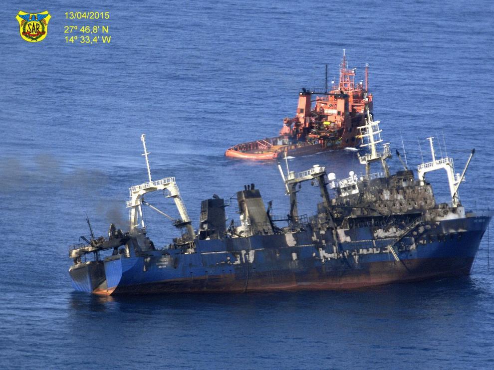 El pesquero con bandera rusa 'Oleg Naydenov'