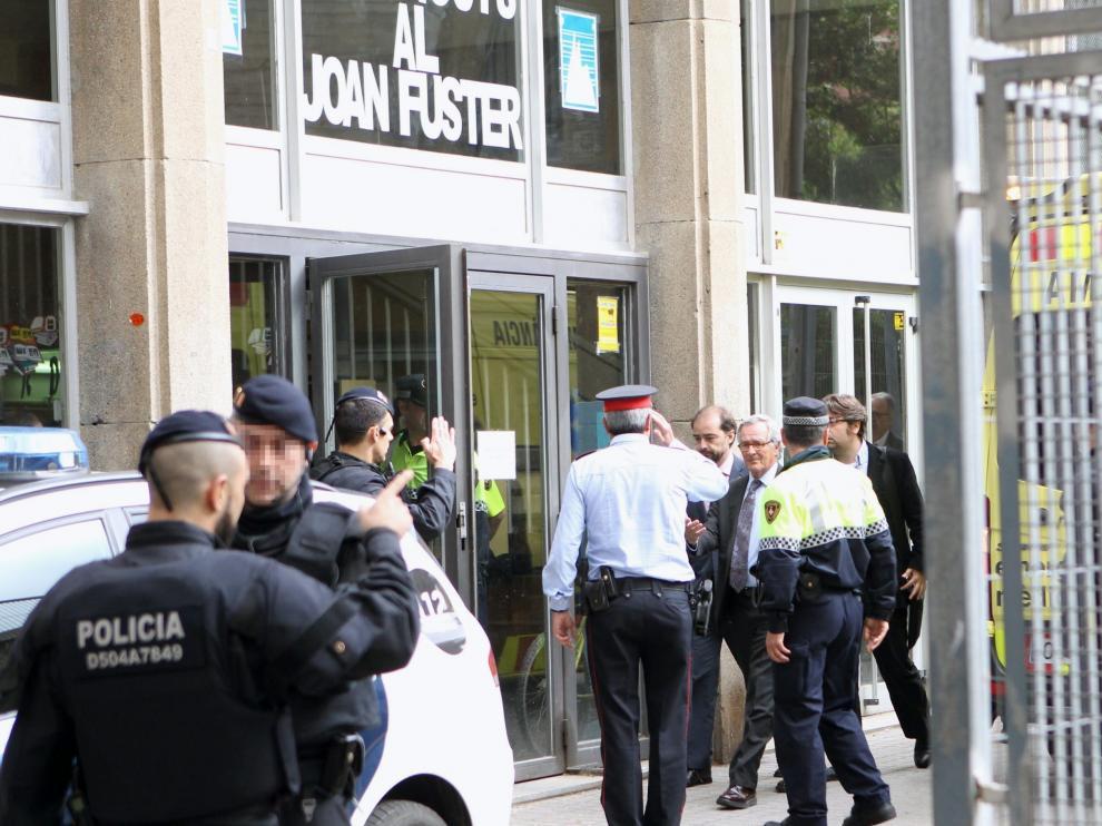 Imagen del instituto barcelonés poco después del terrible suceso