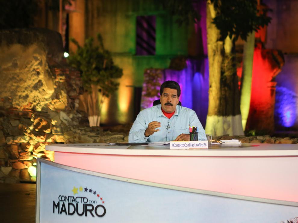 El presidente venezolano en el programa 'Contacto con Maduro'