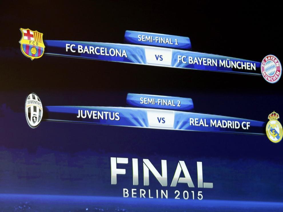 Así quedan las semifinales de la Liga de Campeones