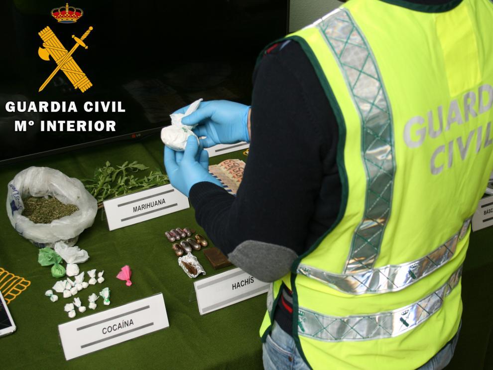 Tres detenidos en Teruel por tráfico de drogas