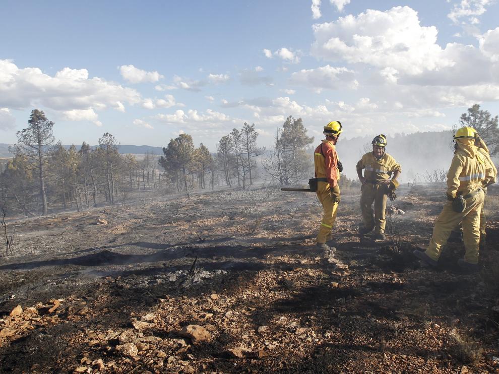 Imagen de archivo de un incendio forestal en Villel.