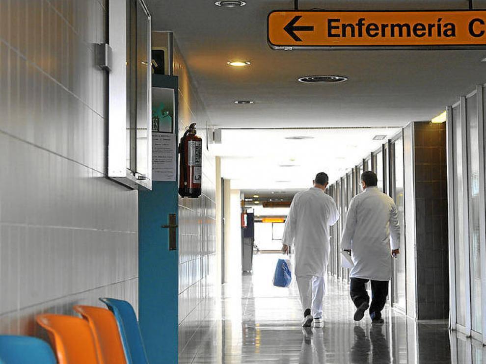 Interior de un hospital aragonés.