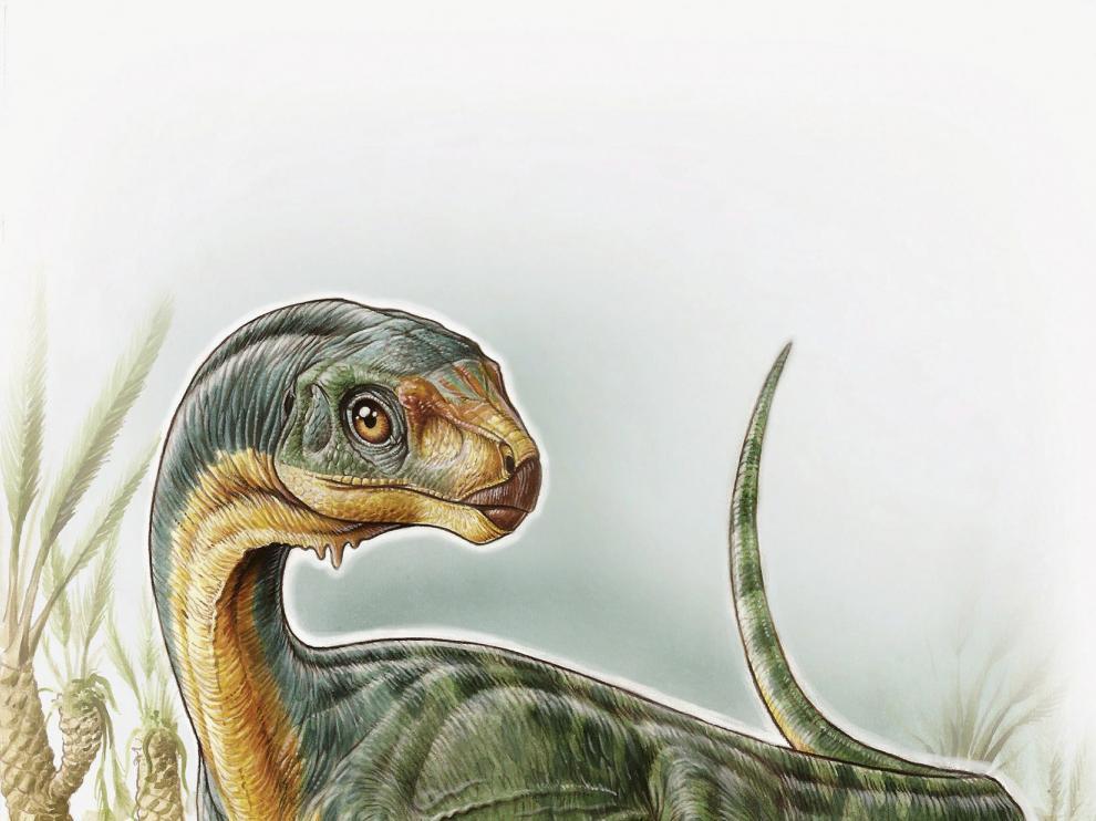 Recreación del 'Chilesaurus diegosuarezi'