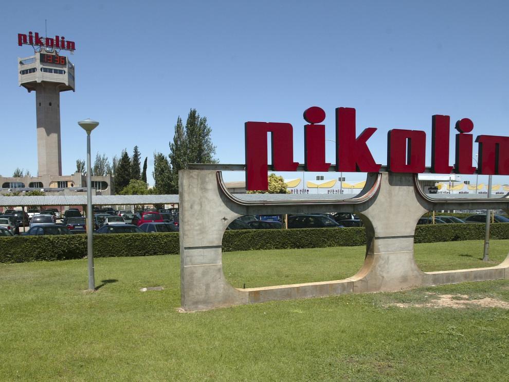 Imagen de archivo de la fábrica Pikolín en la carretera de Logroño