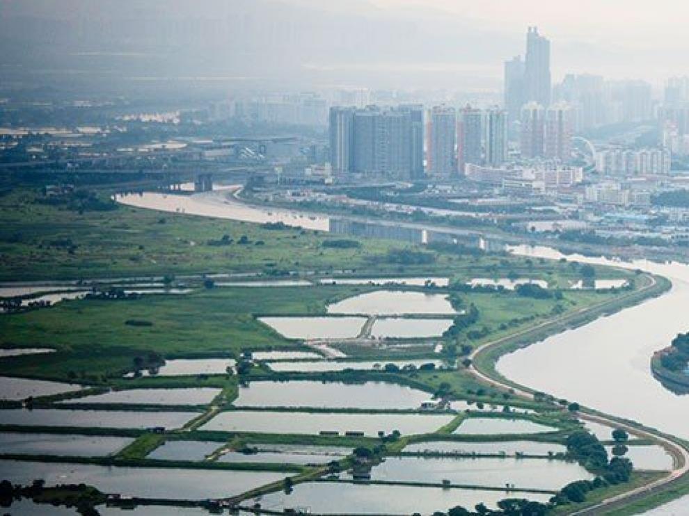 Imagen de la ciudad china de Shenzhen