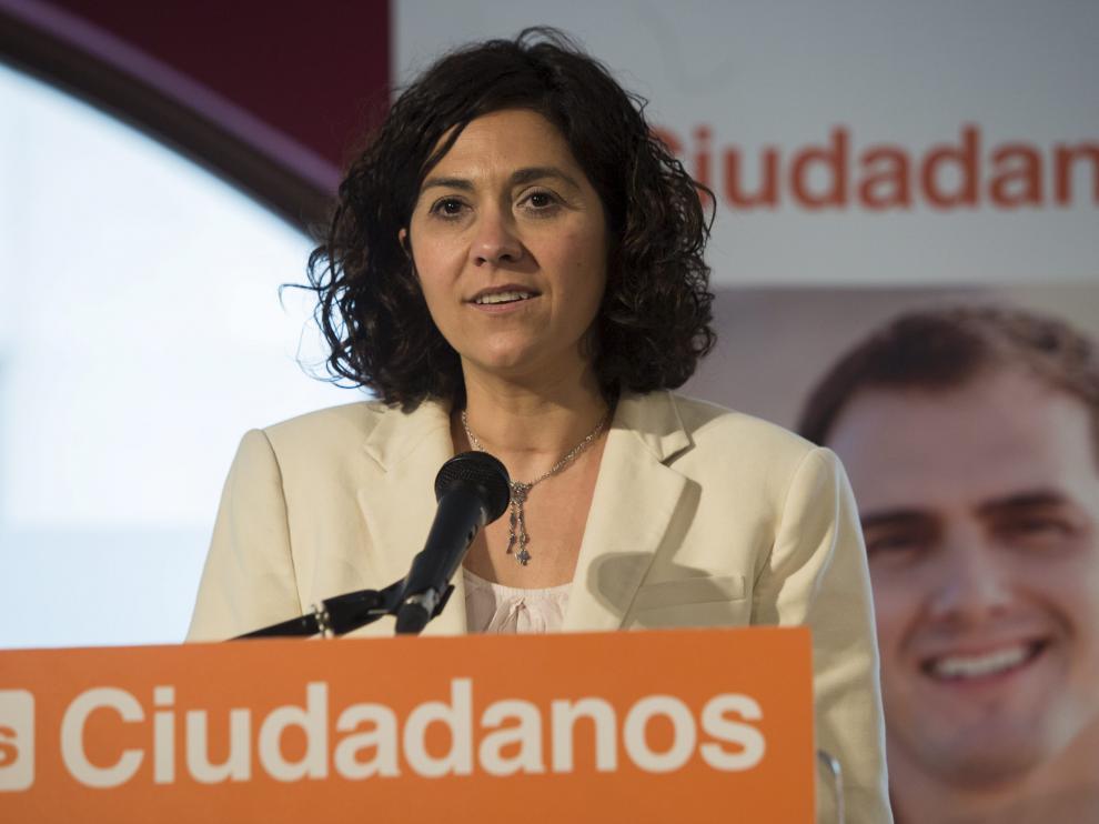 La candidata de Ciudadanos a la Presidencia del Gobierno de Aragón, Susana Gaspar