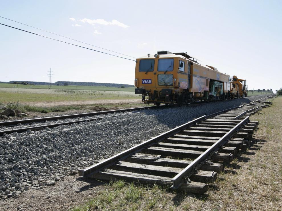 Línea de Canfranc, foto de archivo.