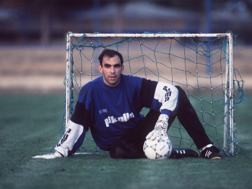 Cedrún, durante su época como jugador del Real Zaragoza