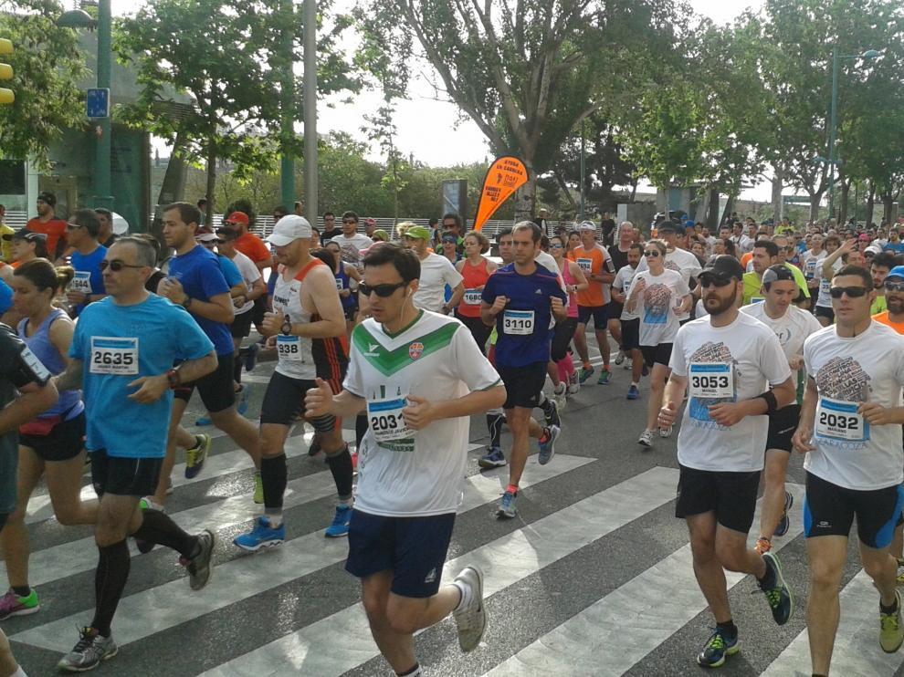 Una imagen de la pasada edición de la Media maratón 'Ibercaja-Ciudad de Zaragoza'
