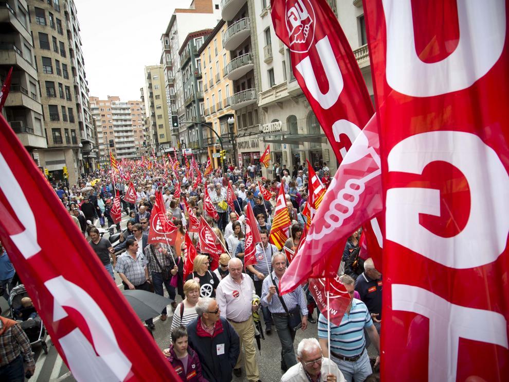 Imagen de una manifestación del 1º de mayo.