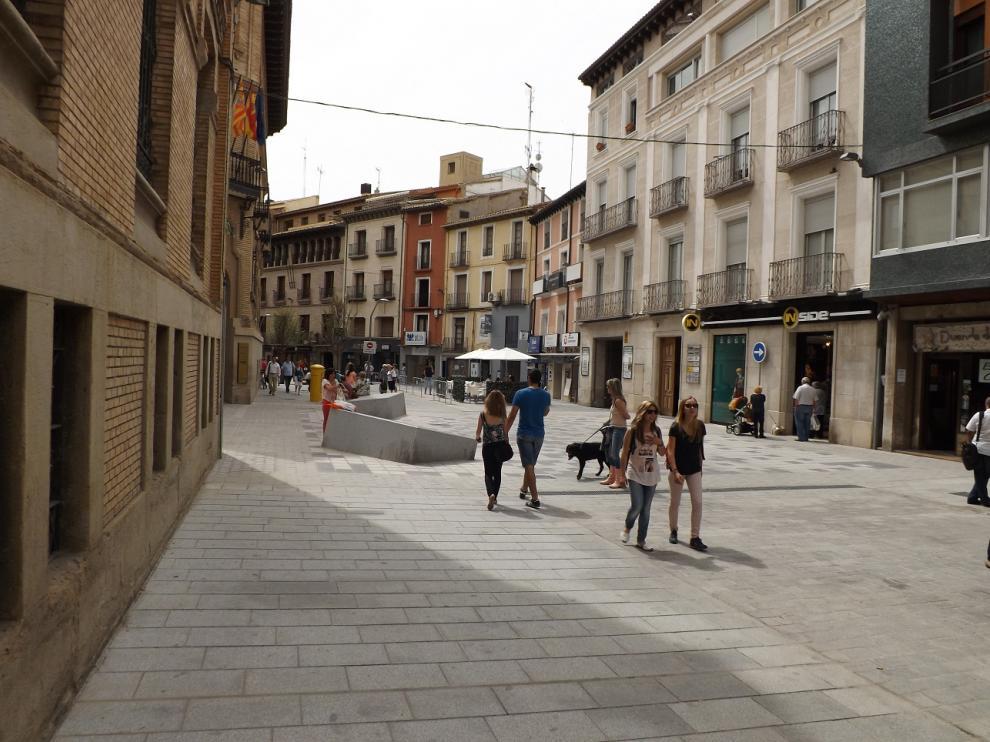 Calle del Coso Alto peatonalizado.