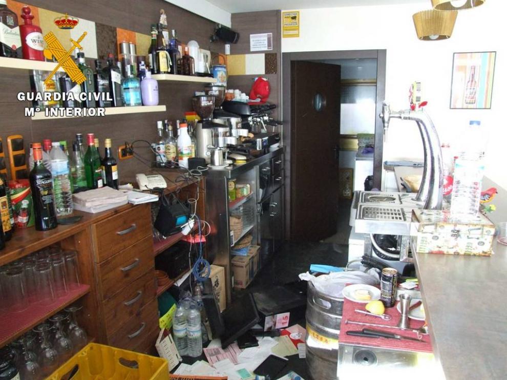 Uno de los establecimientos afectados por los robos.