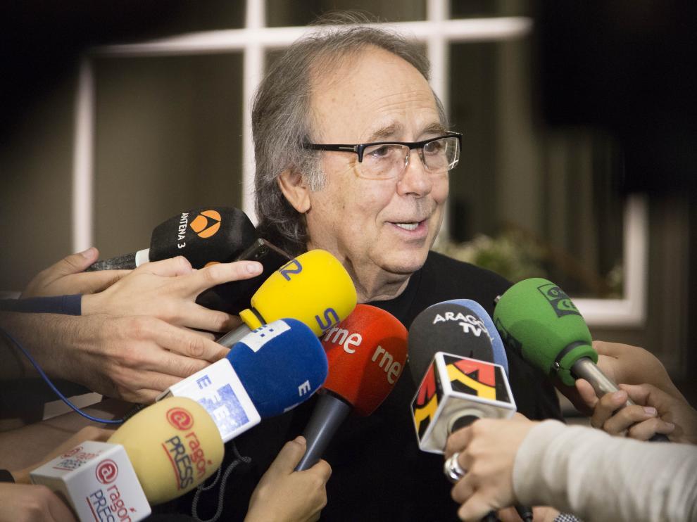 Serrat explica los motivos de la cancelación del concierto en Zaragoza.