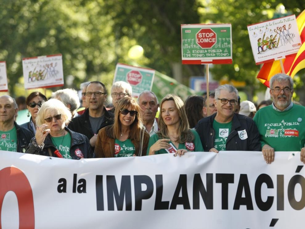 Manifestación contra la LOMCE