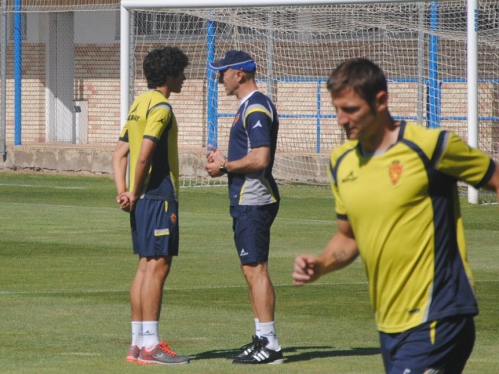Entrenamiento del Real Zaragoza este lunes