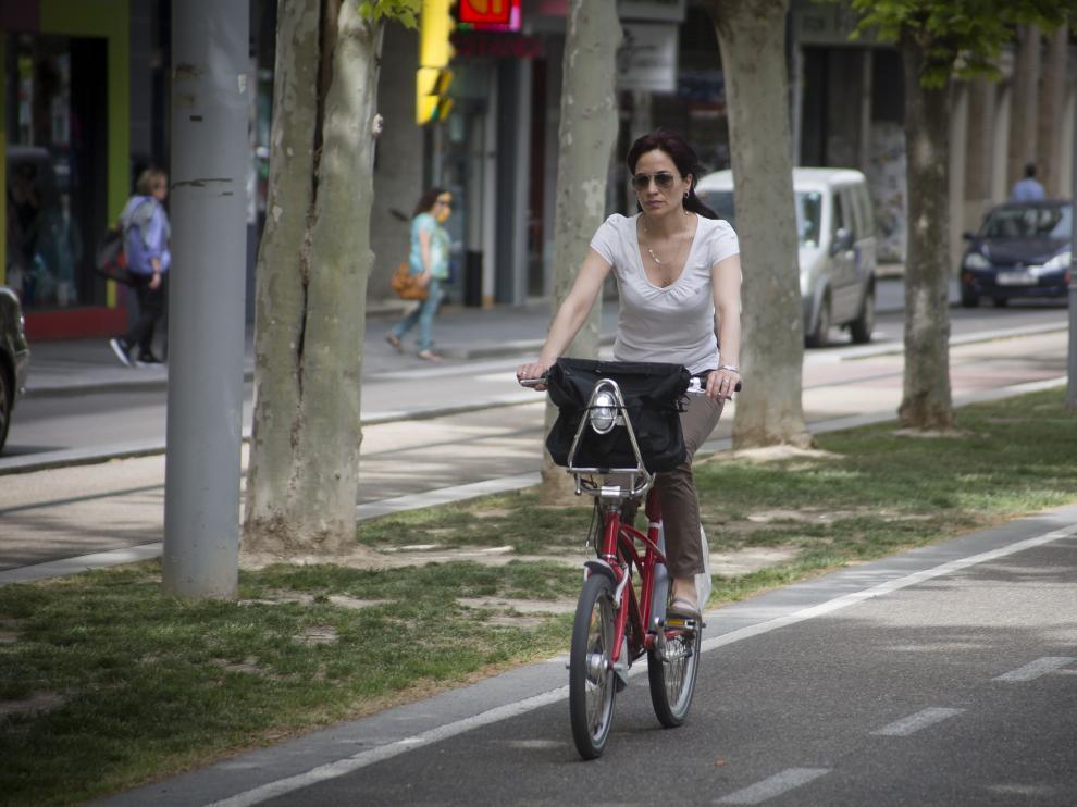 Calor, Altas temperaturas, Ola de calor, Bici, Gran Vía, Carril bici